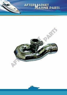 Stainless steel exhaust elbow replacing 805265A1 QSD 2.8, 4.2 / DSD 2.8, 4.2