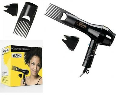Wahl Afro PowerPik Hair Dryer 1250W with **Pik Attachment** UK PLUG