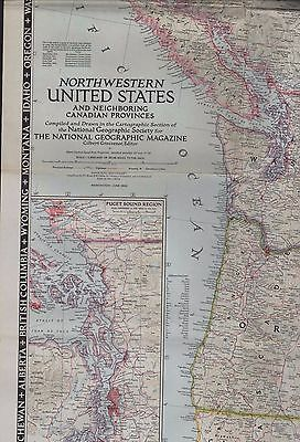 Large NG Map. 1950. Northwestern United States Canadian Provinces   (ZS.48)