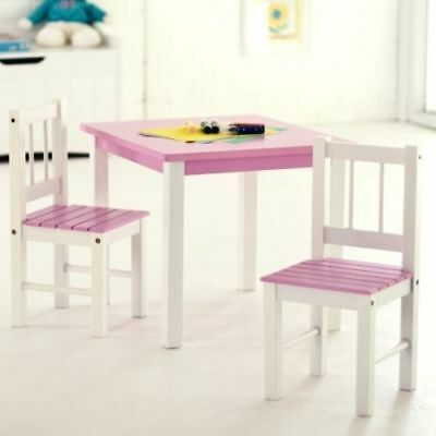 Kids Activity Table and Chairs Set Toddler Study Play Desk Pink White Furniture & KIDS ACTIVITY TABLE and Chairs Set Toddler Study Play Desk Pink ...
