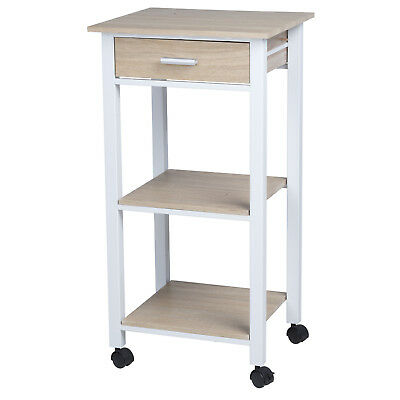 Homestyle 42x37x81cm Kitchen Island Rolling Trolley Storage Unit Serving Cart