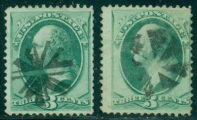 Scott # 147 Used, Fancy Cancel, 2 Stamps, Great Price!
