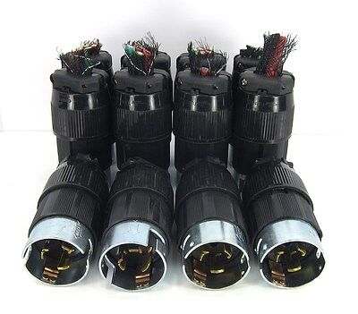 Lot of 12 -- CS8365 50A 250VAC Twist-Lock 3 Phase 4 Wire connector Plugs CS-8365