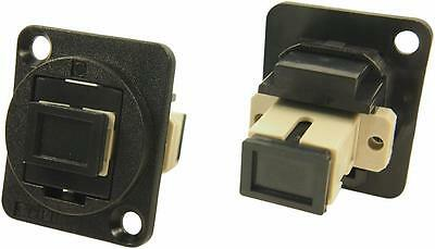 Cliff Electronic Components - CP30216 - Feedthru, Sc Simplex Mm, Black Plastic