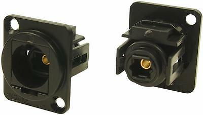 Cliff Electronic Components - CP30217MB - Feedthru, Toslink, Black Metal
