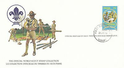 (90162) Zimbawe FDC Card Scouts - Harare 21 July 1982
