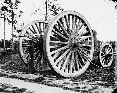New 11x14 Civil War Photo: Sling Cart for Big Guns at Fort Darling, 1865