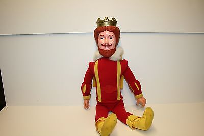 "Knickerbocker 20"" Magical Burger King Plush Doll with Rubber Head/Hands 1980"