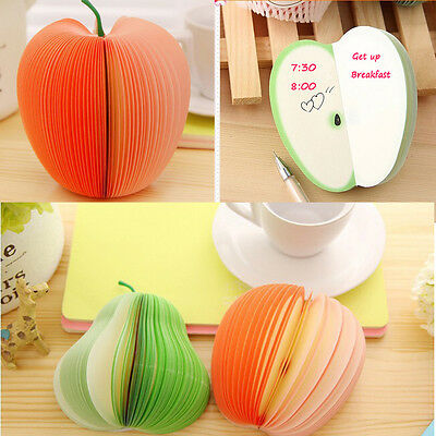 Creative New Fruit Shaped Notepad Memo Stationary Note Pad Scratchpad Paper