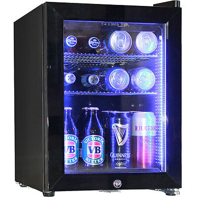 Mini Glass Door Bar Fridge Black 23Litre Schmick