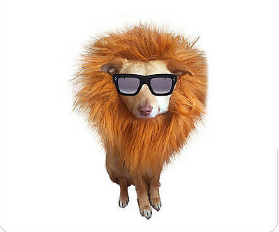 Pet Dog Lion Mane Wig Hair Funny Costume Fancy Dress For Small Size Dog