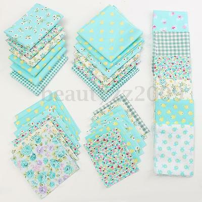 Set 6/7Pz Tessuto 100% Cotone Panno Stoffe Patchwork Fabric Cotton Cloth Sewing