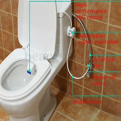 Seat Smart Easy Toilet Bidet Non Electric Washlet Shattaf Sprayer Water Unisex