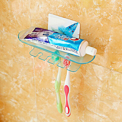 New Useful 4 Set Toothbrush Suction Holder Wall Mount Stand Rack Home Bathroom