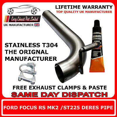 Ford Focus St225 Middle Silencer De-Res Replacement Centre Pipe De Box Delete