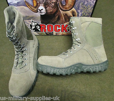 New Us Army/usaf Rocky S2V Special Ops Sage Green Steel Toe Combat Boots. Uk 11.