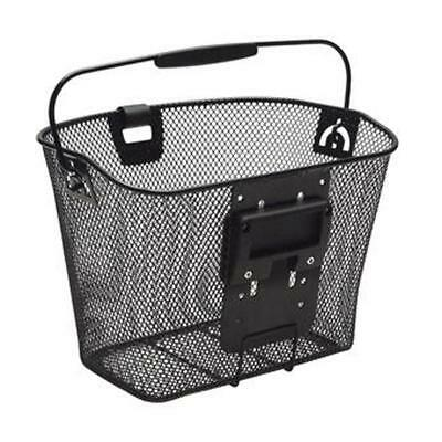 Cycle shopping basket Bike Wire Mesh Front Basket Bracket and light mount