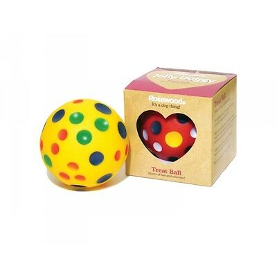 Rosewood Jolly Doggy Interactive Treat Dispensing Cheese Ball Dog Toy 20780 New