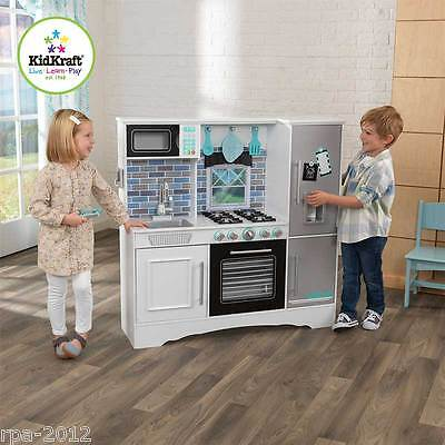 Kidkraft Culinary Wooden Play Kitchen White Kids Childs Girls Toy **new**