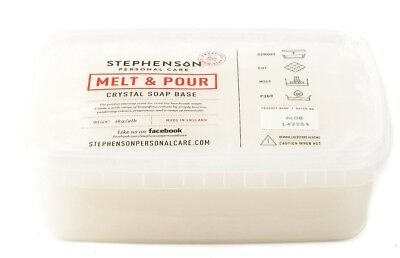 STEPHENSONS Crystal Melt and Pour Soap Base  Free P&P
