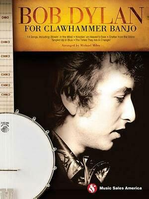 Bob Dylan for Clawhammer Banjo (English) Paperback Book Free Shipping!