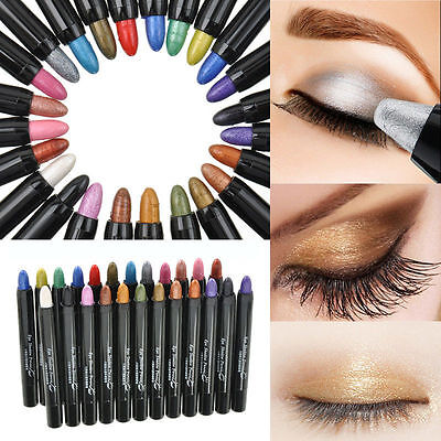 12 couleurs Eyeliner Crayon Fard Ombre à Paupières Waterproof Yeux Maquillage