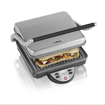 Tower 1800W Electric Panini Grill Sandwich Press Stainless Steel Griddle Machine