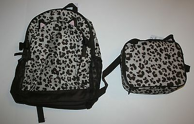New Gymboree Leopard Cat Lunchbox Backpack Set 2T 3T 4 5 6 One Size NWT Girls
