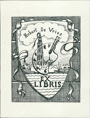 Hubert de Vries.  bookplate JD.62