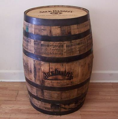 Authentic JD Branded and Engraved Whiskey Barrel-Man Cave Items- FREE SHIPPING