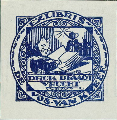 VOS-VAN KLEEF par Arthur Jacobs c.1920's   bookplate JD.64