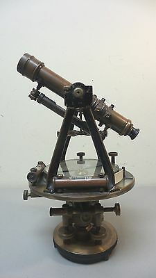 ANTIQUE GURLEY NY BRASS SURVEYOR'S TRANSIT with COMPASS, c. EARLY 1900s