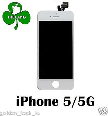 For iPhone 5/5G LCD Touch Screen Display Digitizer Glass Assembly Unit White