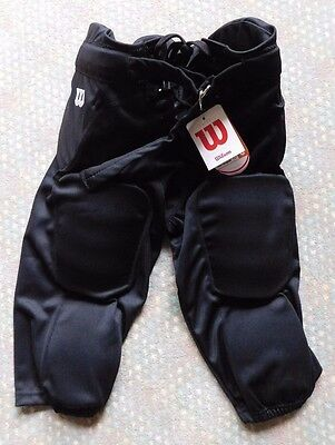 Youth XLarge WILSON Rediplay 7 Pads Integrated Football Girdle Pants Black NWT