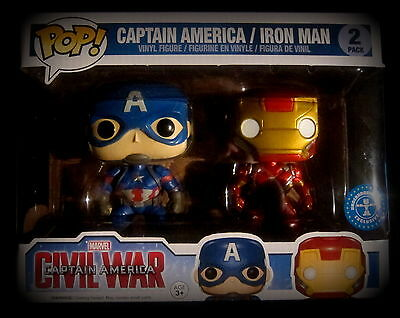 Civil War - Captain America / Iron Man - Limited - Funko Pop - 2 Pack