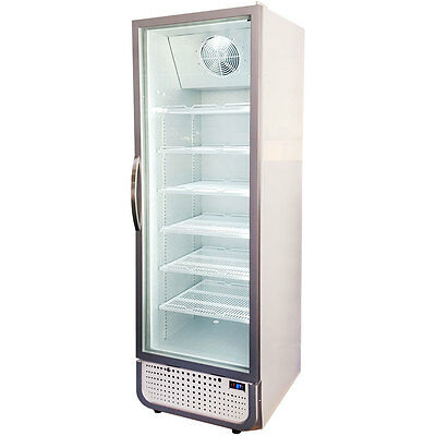 Brand New Husky Commercial Upright Glass Door Bar Fridge - Energy Saving