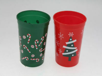 12 packs of 4 christmas plastic disposable cups 4 assorted