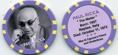 Paul Ricca Gangster  Collector Chip