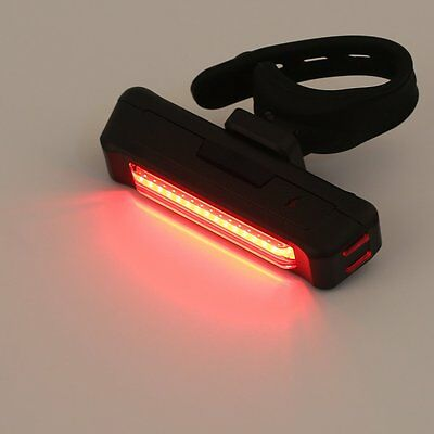 USB Rechargeable Bike Bicycle Light Rear Back Safety Tail Light Red New  HK