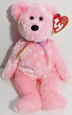 "TY Beanie Babies ""SHERBET"" the Soft Pink Teddy Bear - MWMTs! PERFECT GIFT! MINT!"