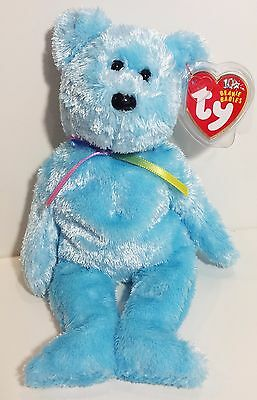 "TY Beanie Babies ""SHERBET"" Soft Blue Teddy Bear - MWMTs! GREAT GIFT! A MUST HAVE"