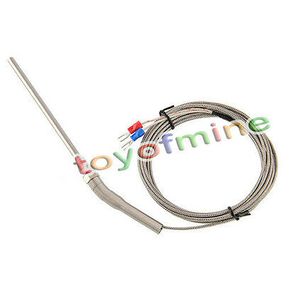 New 3m Stainless Steel Probe K type Sensors Thermocouple High Temperature 10ft