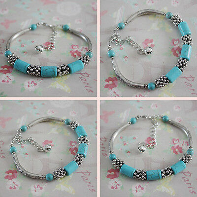 Antique Turquoise Beads Anklet Bracelet Beach Foot Anklet HOT SALE Fashion
