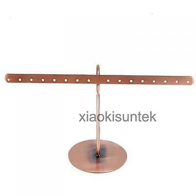 Copper Jewelry Display Stand Necklace Earrings Rings Bracelet Display Rack