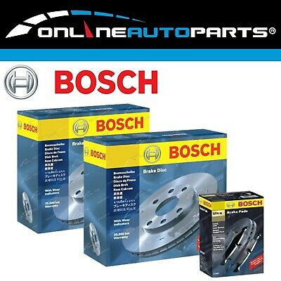 2 Genuine Bosch Rear Disc Rotors + Brake Pads Commodore VT VX VU VY VZ V6 + V8