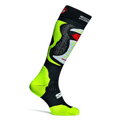 Sidi Faenza Yellow Fluo Moto Motorcycle Motorbike Casual Socks | All Sizes