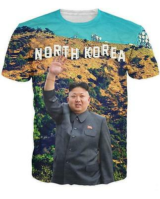 New Fashion Womens/Mens Kim Jong Un 3D Print T-Shirt USQ104