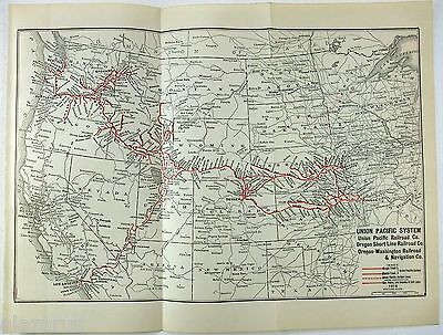 Original 1915 Dated Union Pacific Railroad System Map