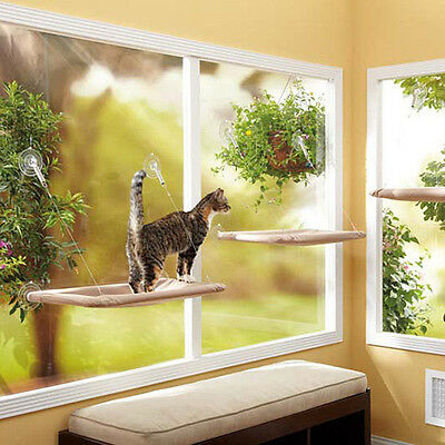 Kitty Kitten Window Mounted Basking Bed Pet Shelf Cat Perch Seat High Hammock