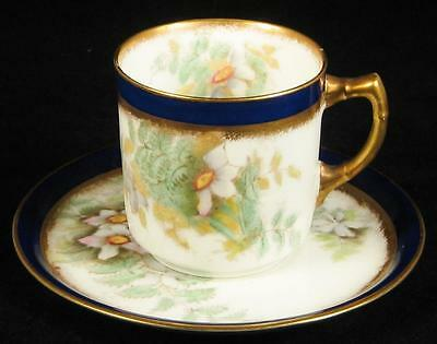 Adderleys Edelweiss Flower Demitasse Cup & Saucer 1926+
